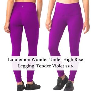 Lululemon Wunder Under High Rise Legging Purple